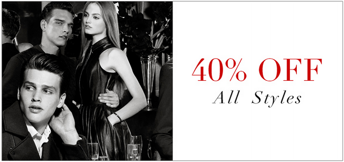 ac85f0464b0 Armani Exchange AX Black Friday 2013 Pre-Sale  40% Off All Styles Online  and In Store