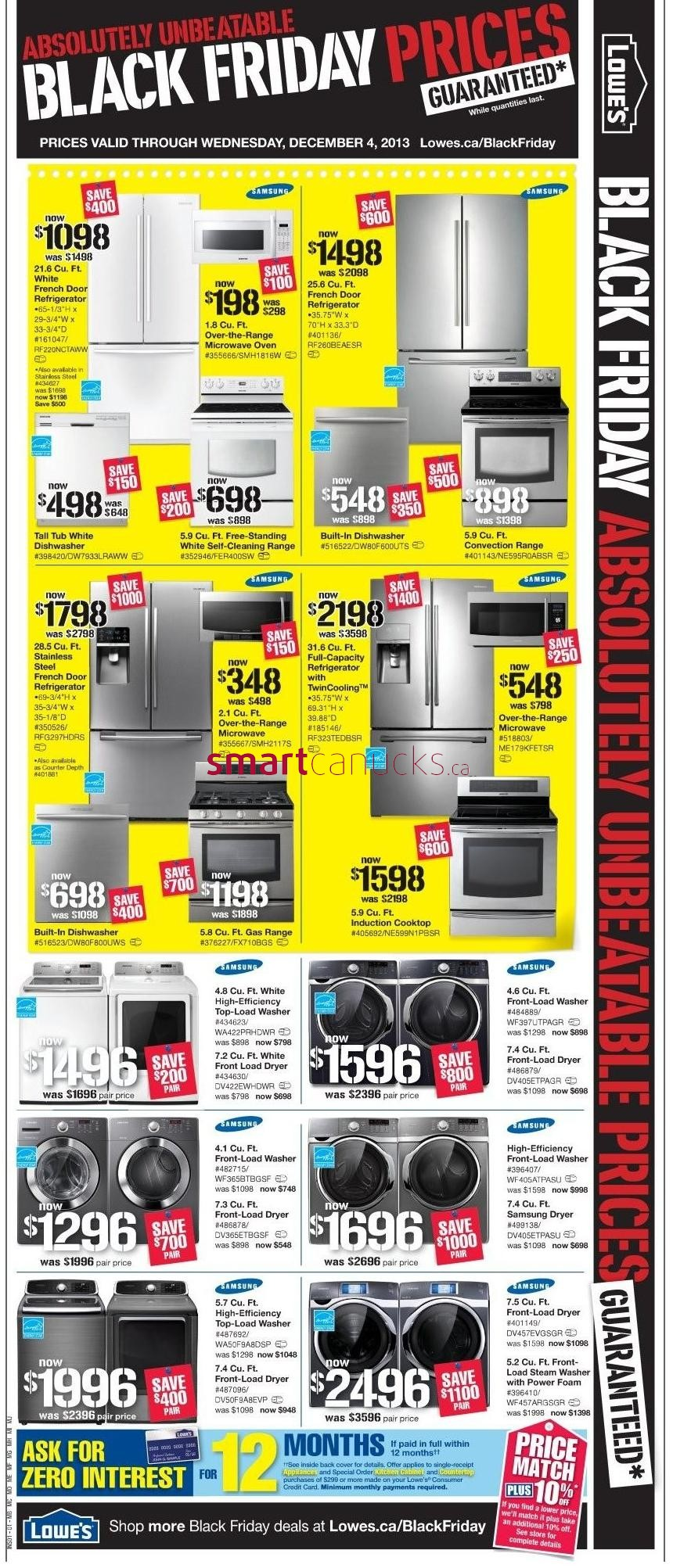 lowe s canada black friday 2013 sales and deals flyer black friday canada. Black Bedroom Furniture Sets. Home Design Ideas