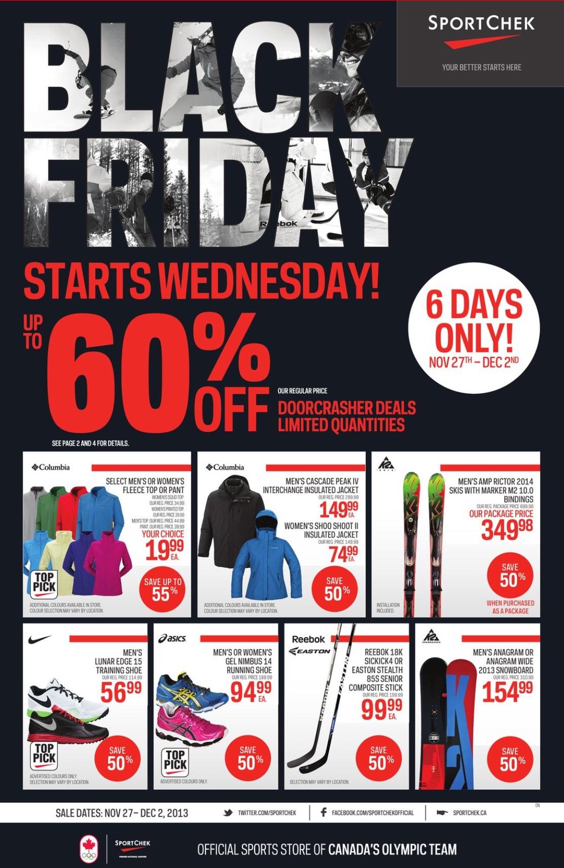 Sport Chek Canada Black Friday 2013 Flyer, Sales and Deals › Black ...
