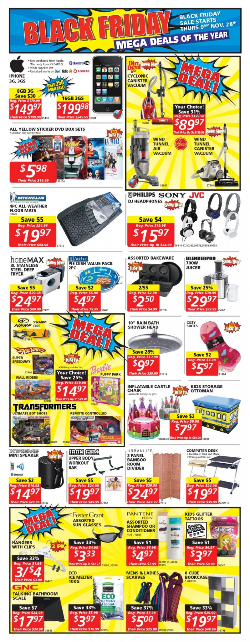 Canada black friday 2013 sales and deals flyer black for Black friday tattoo deals