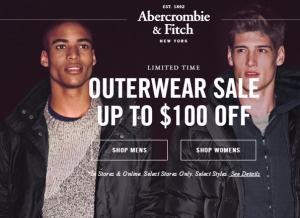 abercrombie and fitch black friday promo code