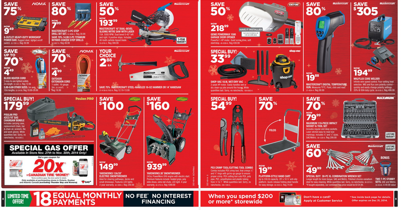 Canadian Tire Black Friday 2014 Canada Full Flyer Sales And Deals Black Friday Canada