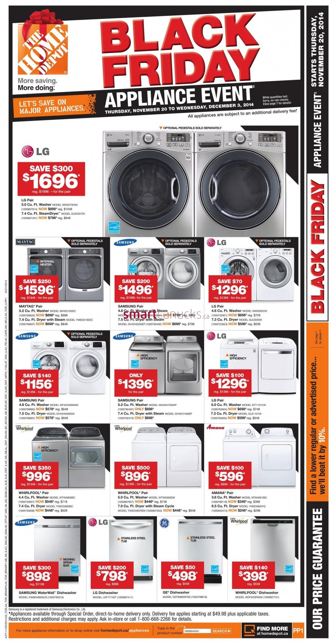 Home Depot Appliances Black Friday Sale Live Now. Like every year, HomeDepot is offering Black Friday Savings on Appliances Now. With up to 40% off & up to $ extra off, they have lowest prices of the year on appliances. These are the same deals that Home Depot will be offering this Black Friday.