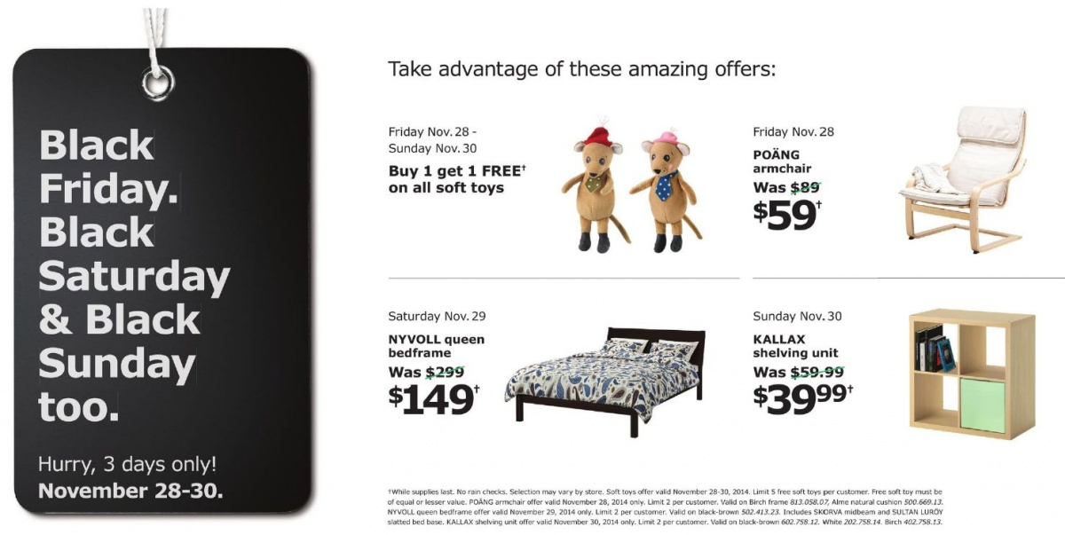 Ikea Black Friday Canada 2018 S And, Furniture Black Friday Deals Canada