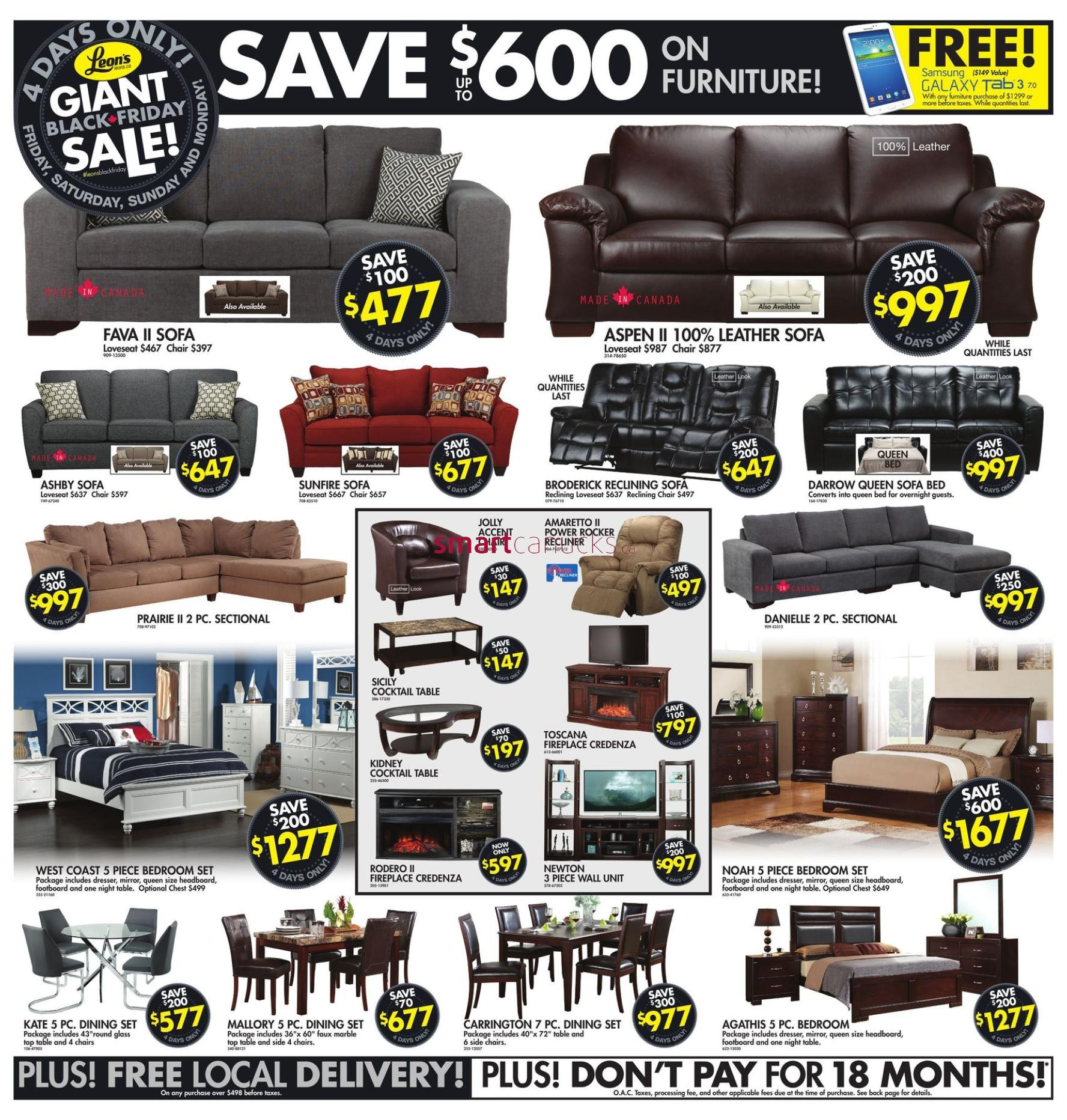 leon s black friday canada 2014 flyer sales and deals black friday canada. Black Bedroom Furniture Sets. Home Design Ideas