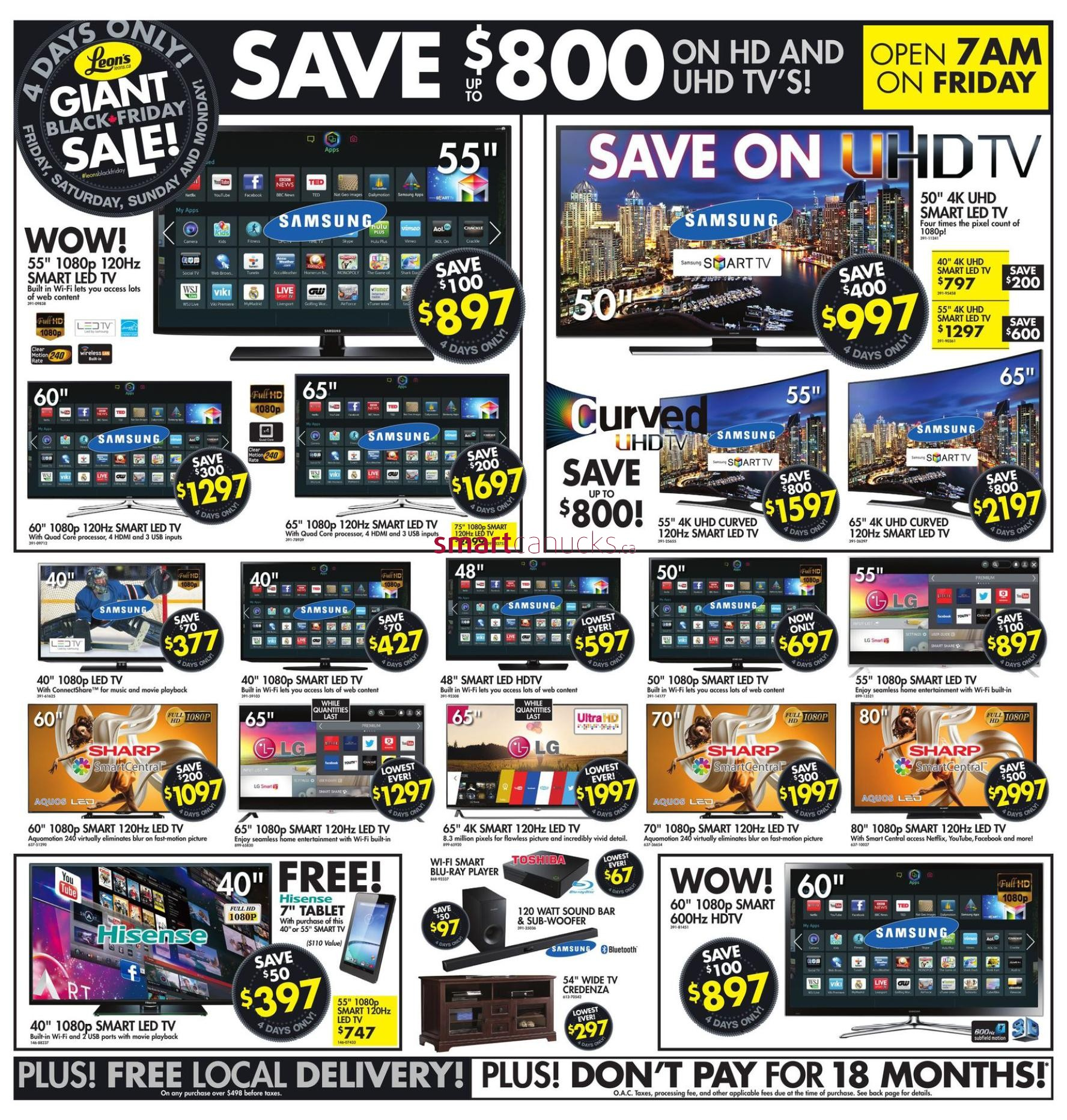 Leon's Black Friday Canada 2014 Flyer, Sales And Deals