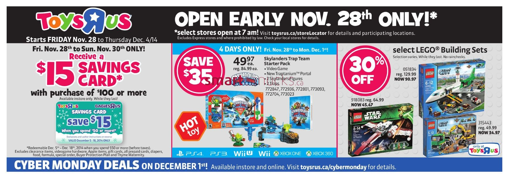 Toys r us black friday canada 2014 flyer sales and deals for Black friday tattoo deals