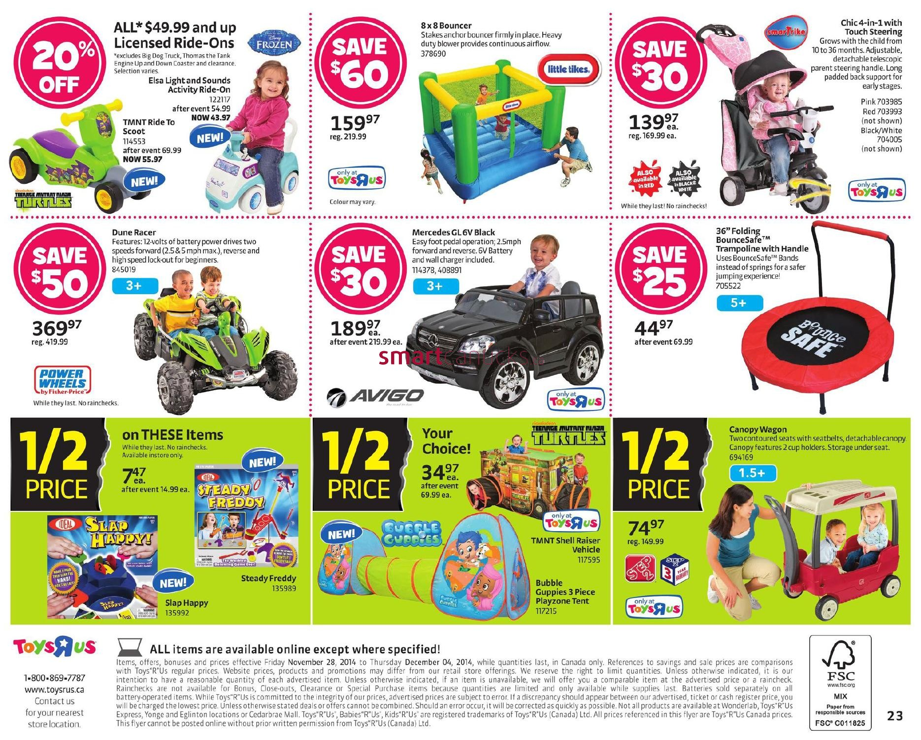 Toys R Us Flyer : Toys r us black friday canada flyer sales and deals