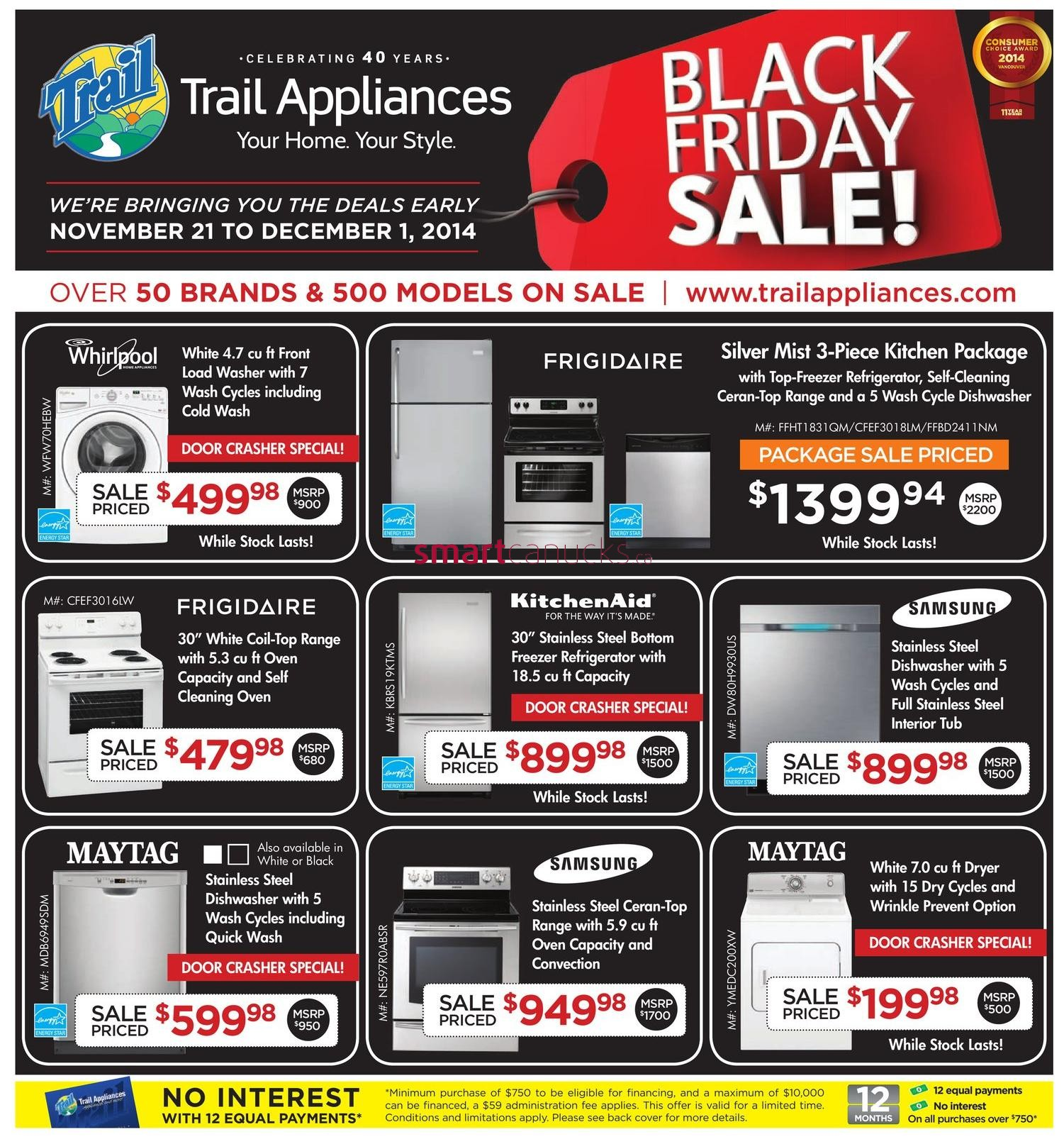 trail appliances bc black friday canada 2014 flyer sales and deals black friday canada. Black Bedroom Furniture Sets. Home Design Ideas