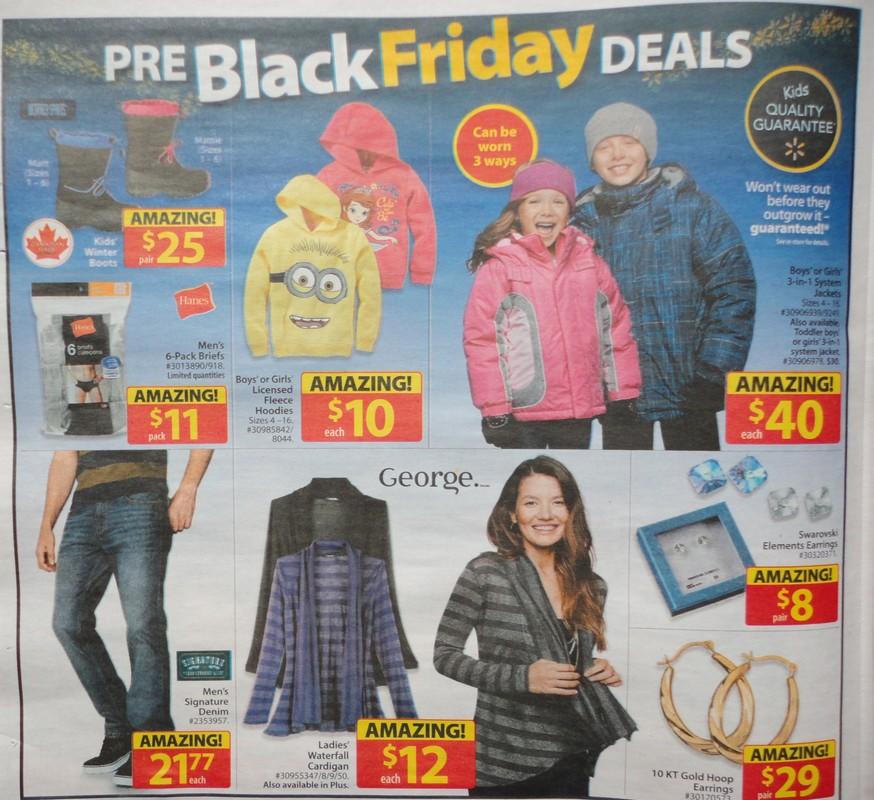 Walmart Canada Black Friday 2014 Flyer Sales And Deals