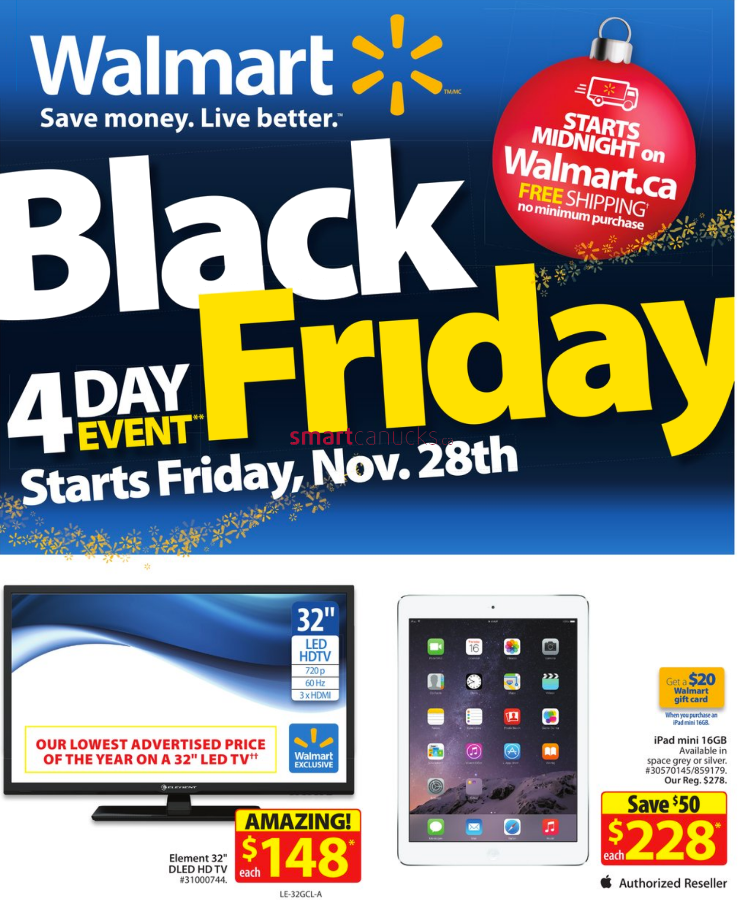 Walmart Canada Black Friday 2014 Full Flyer Sales And