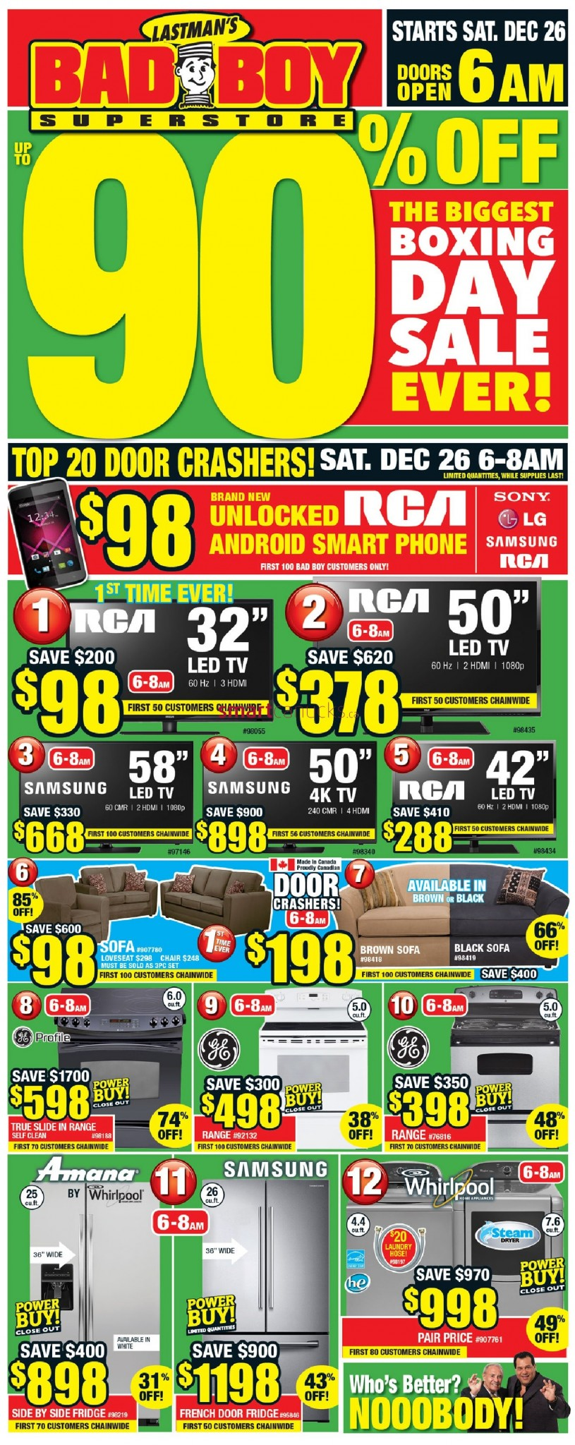 bad boy furniture superstore boxing day boxing week flyer deals 2015 black friday canada. Black Bedroom Furniture Sets. Home Design Ideas