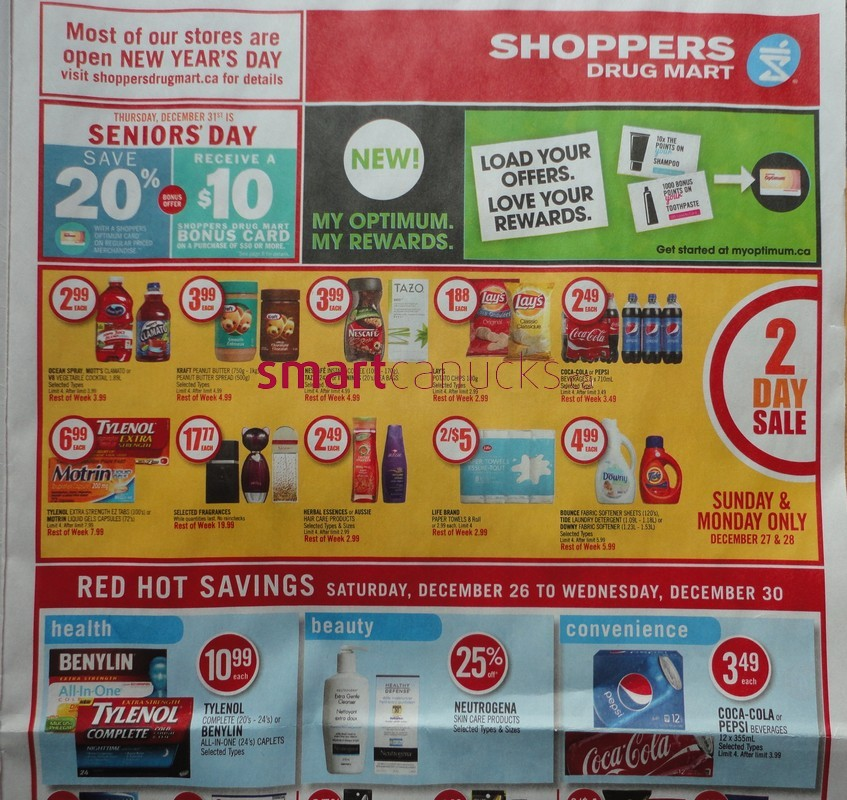 Shoppers Drug Mart Boxing Day / Boxing Week Flyer Deals 2015